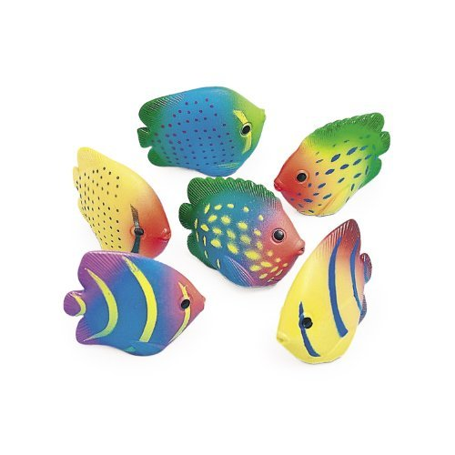 Vinyl Mini Tropical Fish Squirts (1 dz)