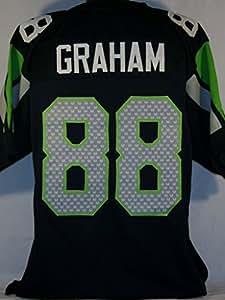 Jimmy Graham Seattle Seahawks Unsigned Custom Blue Jersey Size XL
