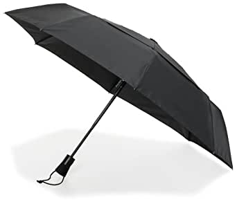 ShedRain WindPro Mini Umbrella Auto Open & Close, Black, One Size