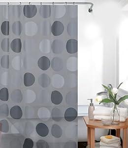 rétrograde PEVA rideau de douche grise argentine 180x200 bagues de douche inclue 180 x 200 cm