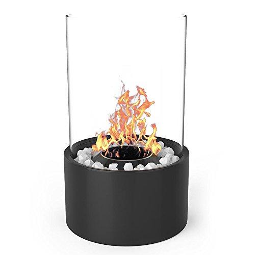 Elite Sweetheart Eden Tabletop Ventless Bio Ethanol Fireplace in Black