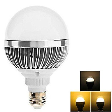 Dimmable E27 11W 30X5730Smd 100-1100Lm 3000-3500K Warm White Remote Controlled Ball Bulb With Controller (85-265V)