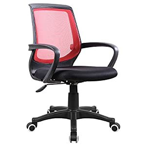 American Phoenix Mid Back Red Back Mesh Chair With Adjustable Hi