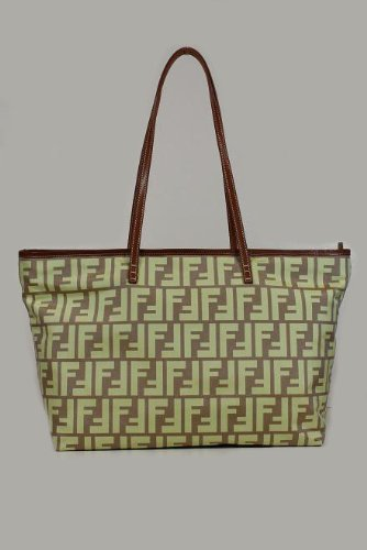 Fendi Handbags Brown-Yellow Zucchino Nylon 8BH198