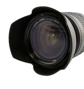 Nouveau: Pare-soleil LH60F pour Canon EF-S 1:3.5-5.6/18-55mm IS (II) y compris le Filtre UV MC 58mm par exemple pour Canon objectif standard de EOS 60D, 300D, 350D, 400D, 450D, 500D, 550D, 600D, 650D, 1000D, 1100D - S'il vous plaît assurez-vous de respecter la note