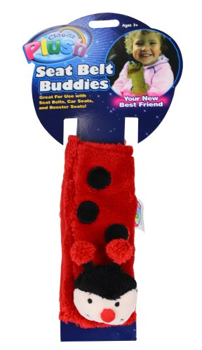 Cloudz Plush Seat Belt Buddies- Ladybug
