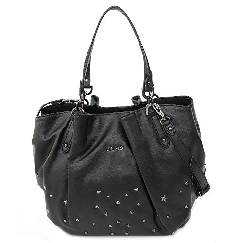 LIU JO PERLE SHOPPING BAG N66034E0038-22222 Black
