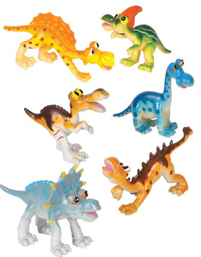 Adventure Planet Cartoon Dinosaur Set, 6-Piece