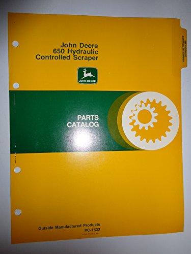 John Deere 650 Hydraulic Controlled Scraper Parts Catalog Book Manual Original Pc-1533