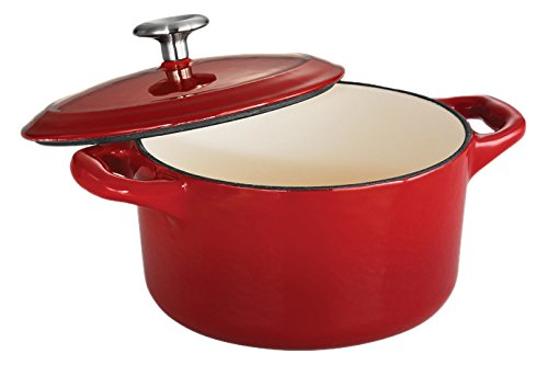 Tramontina Enameled Cast Iron Covered Small Cocotte, 24-Ounce, Gradated Red (Oven Safe Small Pot compare prices)