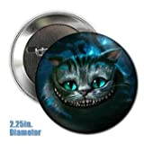 Tim Burton's Alice in Wonderland Cheshire Cat Button 2.25 inches in Diameter