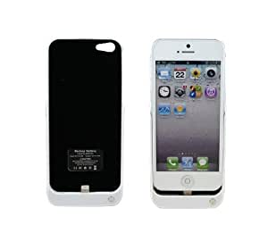 HSINI TM 4200mAh White Super Power External Backup Battery Charger Case for iPhone 5 5G