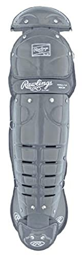 Rawlings 9DCW Double Knee Youth Leg Guards with Wings (Ages: 7-9) - Silver Gray