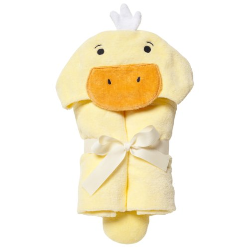Elegant Baby Bath Time Gift Hooded Towel Wrap, Yellow Ducky
