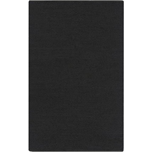 2' x 3' Solid Dark Gray Tonga Designed Area Throw Rug