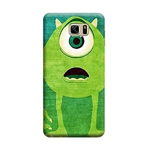 Desicase Samsung Note 7 Mike Monster 3D Matte Finishing Printed Designer Hard Back Case Cover (Green)