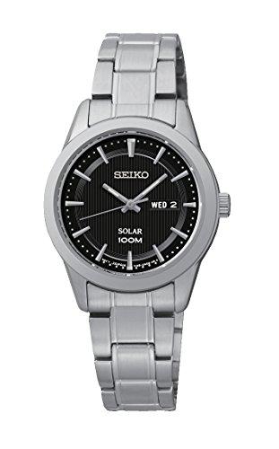 Seiko Damen-Armbanduhr Analog Quarz Edelstahl SUT161P1