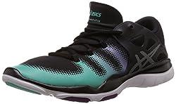Asics Womens Gel Vida Black, Silver and Aqua Mint Multisport Training Shoes - 3 UK