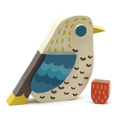 Strawberry Thief Wooden Bird by Matt Sewell||EVAEX