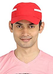 Campus Sutra Men's Cap ( CS_CP_M_PLN_RDWH _ Red & White )