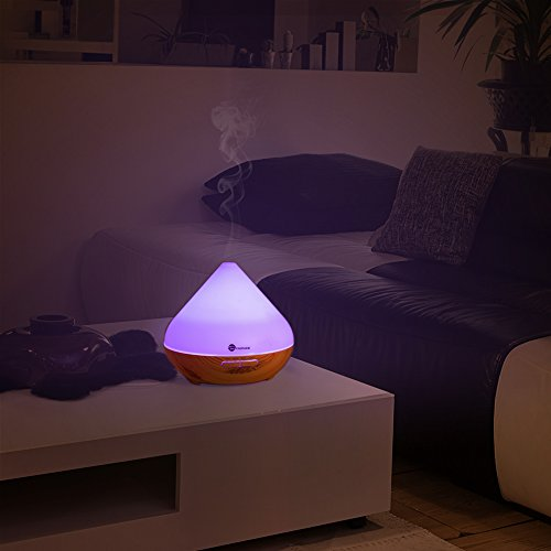 Essential oil diffuser taotronics 300ml aromatherapy diffuser with wood grain zen style cool - Portafortuna casa nuova ...
