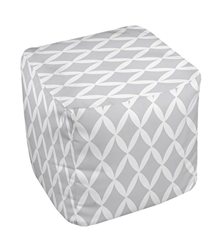 E by design FG-N1-Rain_Cloud_White-13 Geometric Pouf