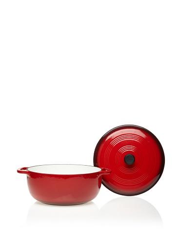 Lodge Color EC7D43 Enameled Cast Iron Dutch Oven, Island Spice Red, 7.8-Quart