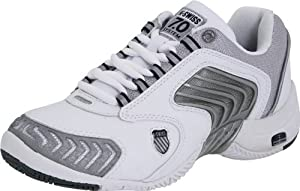 K-Swiss Women's Glaciator Scd Tennis Shoe,White/Platinum/Navy,8 M