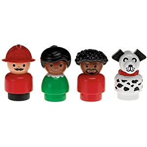 Little People Nostalgic Figure Four-Pack with Husband, Wife, Fireman, & Dalmation.