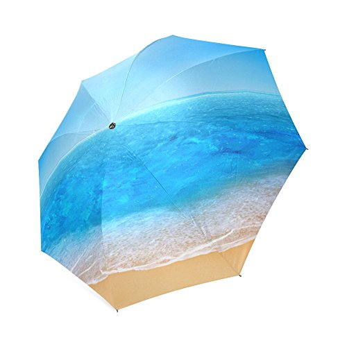 Customized Rain/Sunny Umbrella DIY Printed Beach,Sun and Sand Pictures Printed Good Quality Three Foldable Outdoor Umbrella