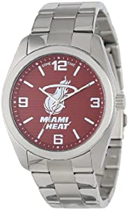 Game Time Unisex NBA-ELI-MIA Elite Miami Heat 3-Hand Analog Watch by Game Time
