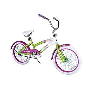 Dynacraft Girl's Magna Carolina Cruiser Bike (Green/Pink, 20-Inch)