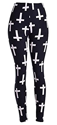 High Quality Printed Leggings (White…