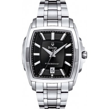Bulova 96B144 Mens Precisionist Black Silver Watch