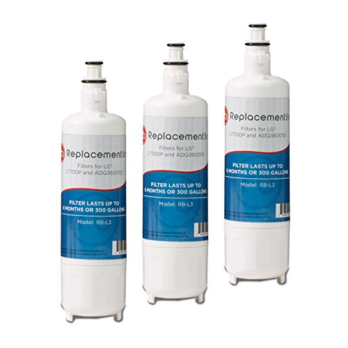 LG LT700P 46-9690 ADQ36006101 Comparable Refrigerator Water Filter 3 Pack