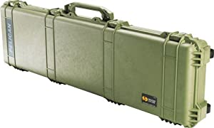 Pelican 1750 Watertight Protector Gun Case w/ Wheels - 50.5in Interior, OD Green, No 1750-001-130