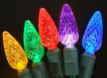 70Ct C6 Led Indoor/Outdoor Multi Color Holiday Light Set (Red/Green/Gold/Blue/Purple)
