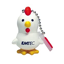 EMTEC M320 Animal Series 4 GB USB 2.0 Flash Drive, Chicken (EKMMD4GM320)
