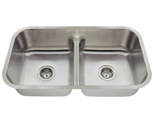 Find Bargain MR Direct 512-16 Half Divide Stainless Steel Kitchen Sink