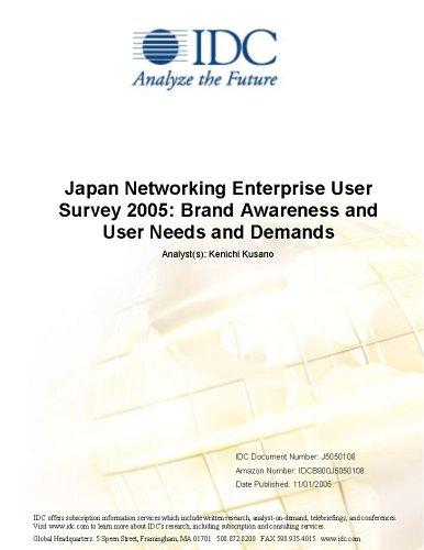 Japan Networking Enterprise User Survey 2005: Brand Awareness and User Needs and Demands Masaaki Moriyama