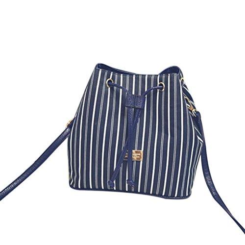 GBSELL-Fashion-Women-Stripe-Bucket-Bag-Crossbody-Messenger-Shoulder-Bag