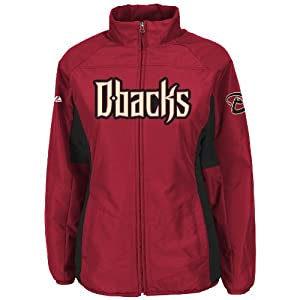 Arizona Diamondbacks Red Ladies Authentic Double Climate On-Field Jacket by Majestic by Majestic