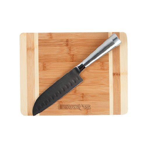 Shsu Oneida Cutting Board And Santoku Knife Set 'Bearkats Engraved'