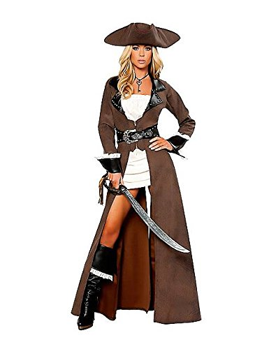 Deluxe Pirate Captain Costume - Large - Dress Size 8