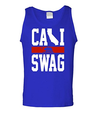 Cali Swag - California Rap Hip Hop Style Tank Top, L, Royal