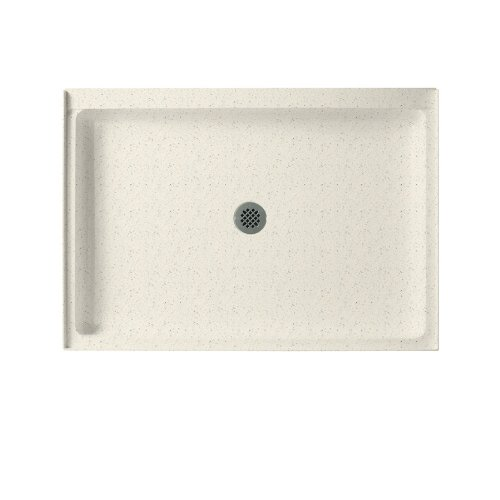 Swanstone SS-3442-058  Shower Base with Center Drain, Tahiti Matrix swanstone dual mount composite 33x22x10 1 hole single bowl kitchen sink in tahiti ivory tahiti ivory