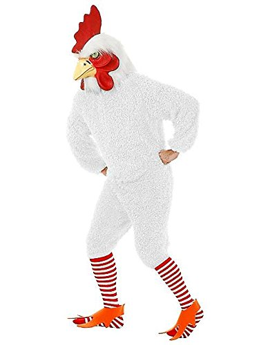 Mens White Rockin Rooster Costume M