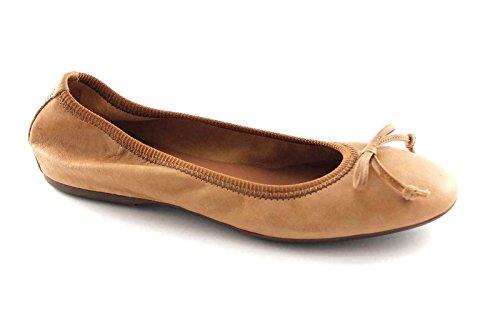 FRAU 70L0 cuoio scarpe donna ballerine fiocco pelle 39