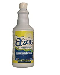 Azul Ravage Drain Opener & Odor Bio-Enzymes Cleaner, Commercial Drain & Septic Maintainer -- Unlike Dangerous Acides This Nature\'s Safely Blasts Nastiest Crud & Crap Faster