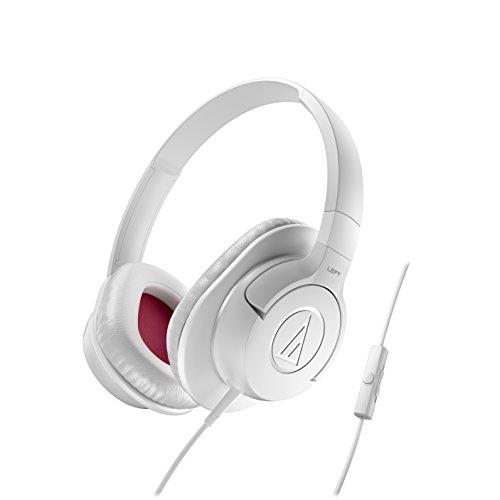 Audio-Technica ATH-AX1ISWH SonicFuel Cuffie con Microfono e Telecomando, Bianco